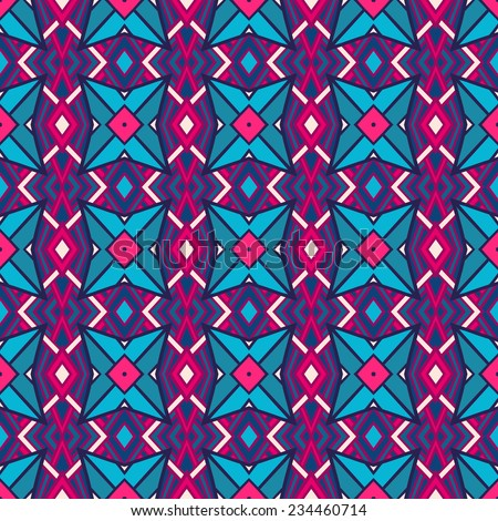 Seamless abstract geometric pink and purple pattern