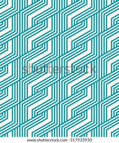 seamless abstract geometric striped pattern. - stock vector
