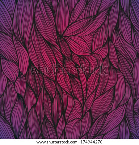 Seamless abstract hand drawn pattern, waves background. Seamless pattern can be used for wallpaper, pattern fills, web page background,surface textures.  - stock vector