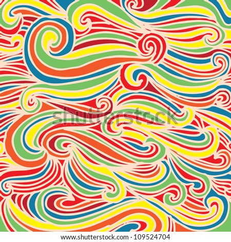 Seamless abstract hand-drawn waves pattern, wavy background. Seamless pattern can be used for wallpaper, pattern fills, web page background,surface textures