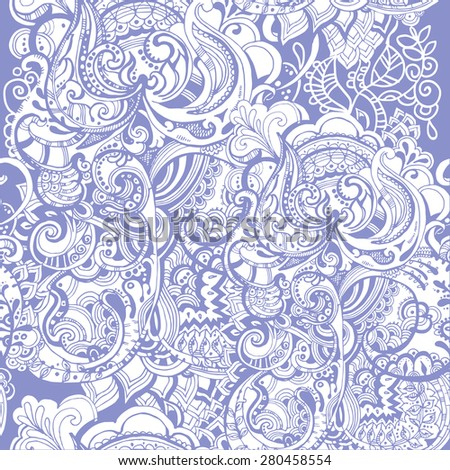 Seamless abstract hand-drawn waves pattern, wavy background. Seamless pattern can be used for wallpaper, pattern fills, web page background,surface textures. Seamless floral background