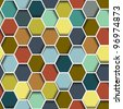 Seamless abstract hexagon background.Vector eps10 - stock vector