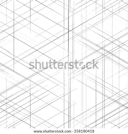 Abstract geometric pattern crossing thin gray vectores en stock seamless abstract isometric computer generated 3d blueprint visualization lines background vector illustration for break through malvernweather Choice Image
