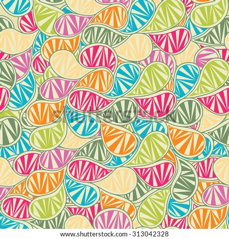 Seamless abstract leaf pattern