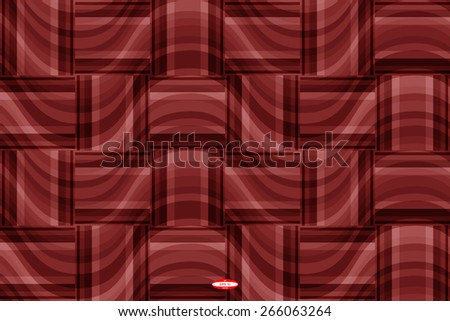 seamless abstract marsala pattern copper texture with rectangle with  magenta line on ginger wicker background vector - stock vector