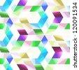 Seamless abstract mosaic. - stock vector