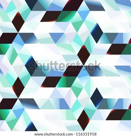 Seamless abstract mosaic. Vector illustration. - stock vector