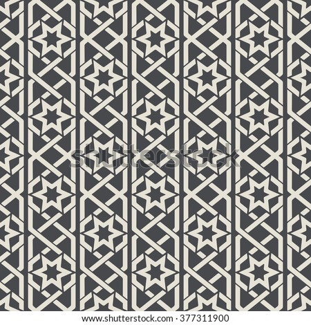Seamless abstract ornamental pattern in Arabic style. Textile decoration background. Vector illustration