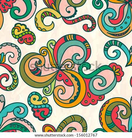 Seamless abstract  Paisley  pattern