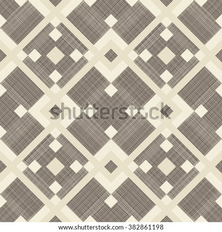 seamless abstract pattern in  brown and beige  - stock vector