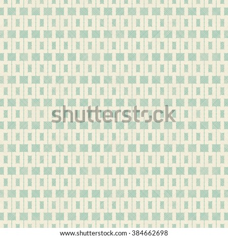 seamless abstract pattern in turquoise and beige on texture background - stock vector