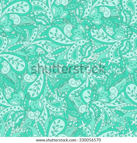 Seamless abstract  pattern. Seamless pattern can be used for wallpaper, pattern fills, web page background,surface textures. Beautiful seamless floral background - stock vector