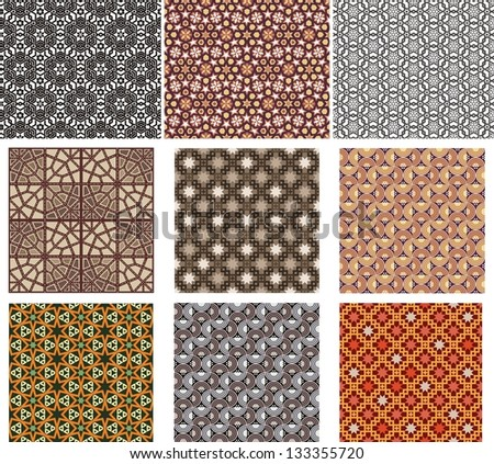 seamless abstract pattern set