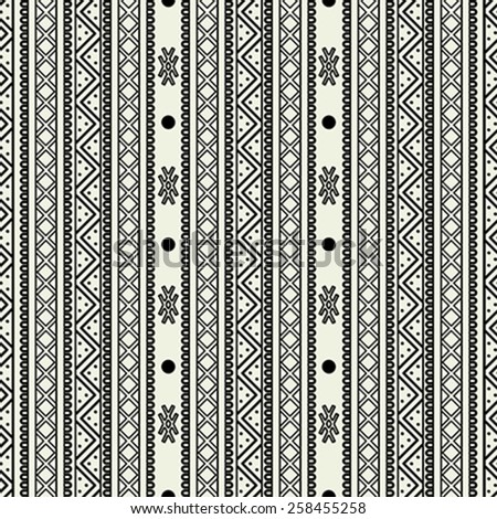Seamless abstract pattern, tribal background tile for design - stock vector