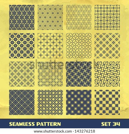 Seamless abstract pattern. Vector set.  - stock vector