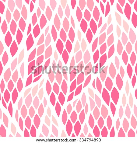 Seamless abstract pattern with colorful rhombuses. Vector illustration with leaves. Vivid texture. - stock vector