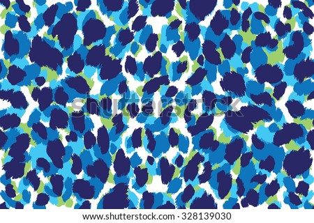 Seamless abstract print with imitation leopard skin spots. Vector illustration.  - stock vector