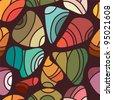 Seamless Abstract Rainbow Pattern - stock vector