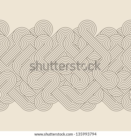 Seamless abstract retro border. Vector illustration - stock vector