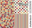 Seamless abstract retro pattern. Stylish geometric background. - stock photo