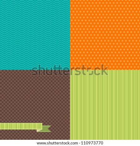Seamless abstract retro pattern. Stylish geometric background. - stock vector