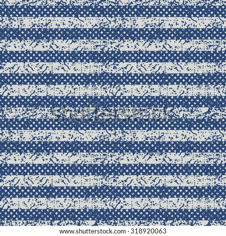 seamless abstract striped pattern in blue and beige