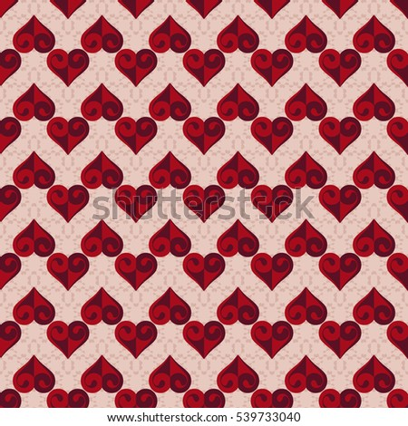 Seamless abstract vector illustration background Valentine's Day with decorative heart