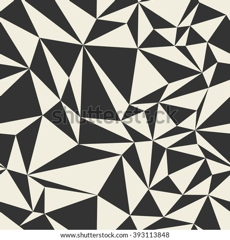 Seamless abstract vector pattern - repeat geometric triangle mosaic background - stock vector