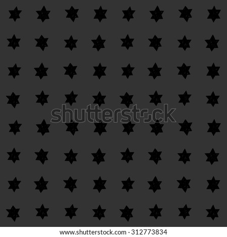 Seamless abstract vector pattern with hand drawn star of David motive