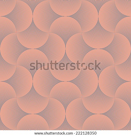 seamless  abstract wave pattern - stock vector
