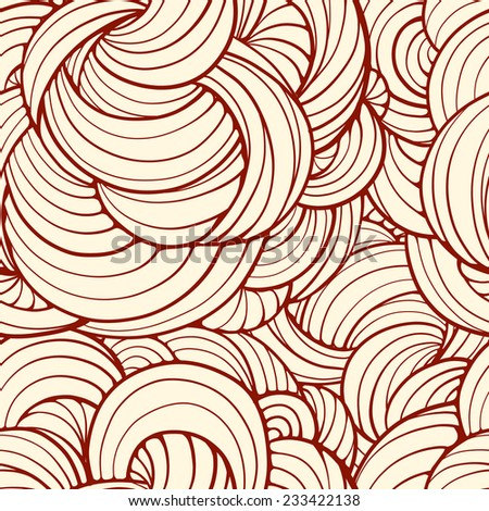Seamless abstract waves and curves pattern - stock vector