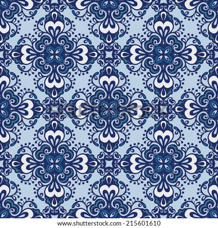 Seamless abstract web background tiled pattern vector - stock vector