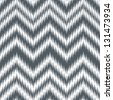 Seamless Alloy Silver Grey Ikat Chevron Background Pattern - stock vector