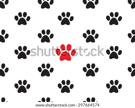 seamless animal footprint pattern