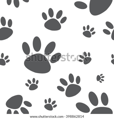 seamless animal footprint pattern / cute pattern / vector.