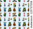 seamless animal office worker pattern,cartoon vector illustration - stock photo