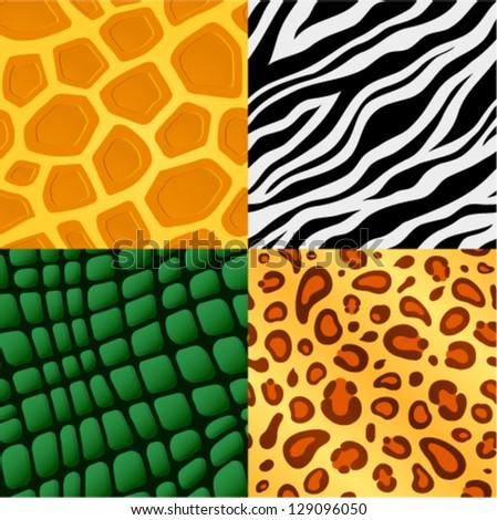 Seamless animal skin pattern - stock vector