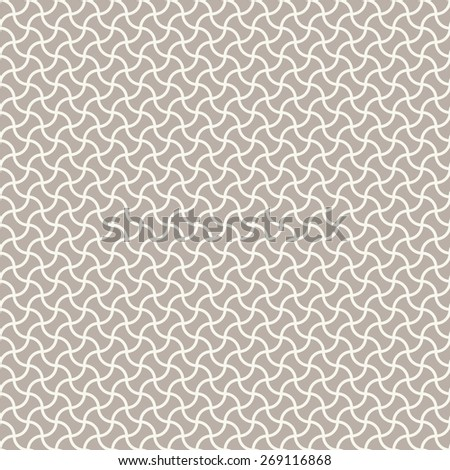 Seamless anthracite gray arc based geometric pattern vector - stock vector