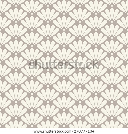 Seamless anthracite gray oriental floral pattern vector