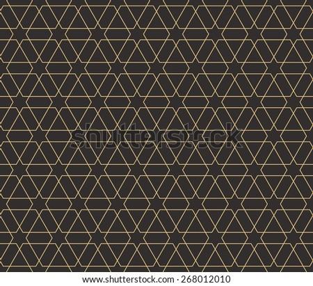 Seamless antique palette Islamic hexagonal star pattern vector - stock vector