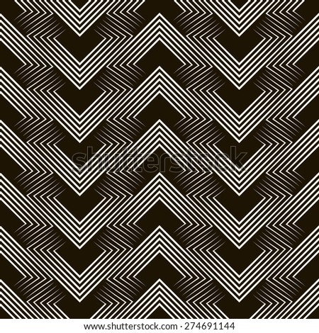 Seamless antique pattern ornament. Geometric stylish background. Vector repeating texture. - stock vector