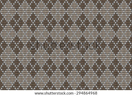 Seamless argyle background pattern in pastel brown colors. Vector illustration - stock vector