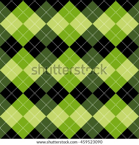 Seamless argyle pattern. Diamond shapes background. Vector