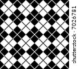 Seamless argyle pattern in black and white. - stock photo