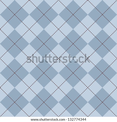Seamless Argyle Sweater Background - stock vector