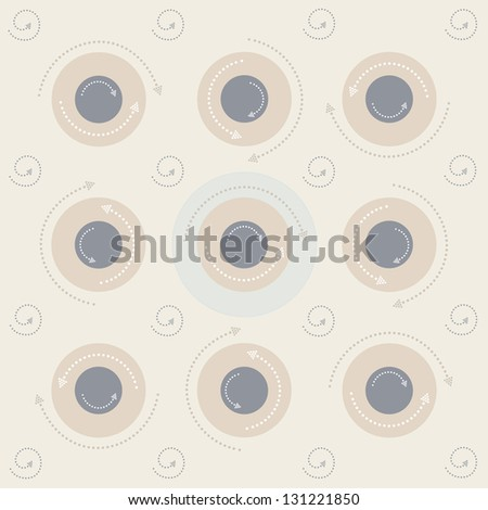 Seamless arrow circles background