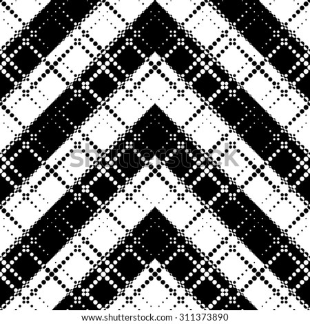 Seamless Arrow Pattern. Abstract Monochrome Background. Vector Regular Texture