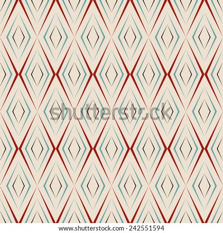 seamless, art deco stylized, elegance diamond wallpaper pattern. each color in separate layer - easy to change. - stock vector