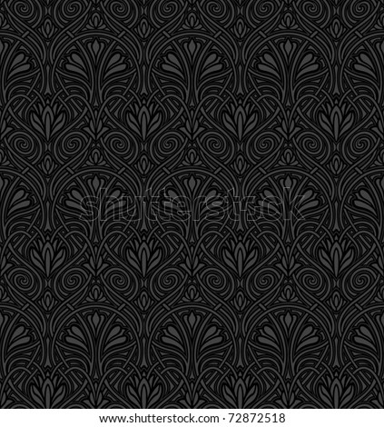 Seamless Art Nouveau pattern - stock vector