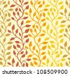 Seamless autumn leaf pattern. Vector illustration - stock vector